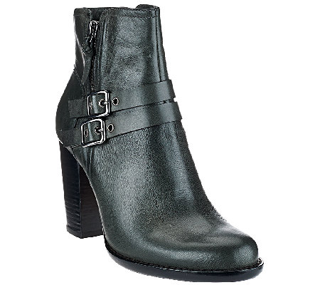 G.I.L.I. Leather Ankle Boots With Buckles - Addison