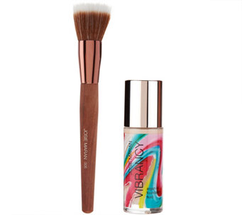 Josie Maran Argan Vibrancy Foundation Fluid with Brush - A272779
