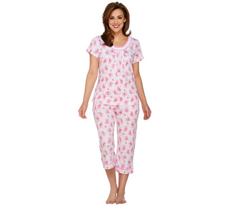 Carole Hochman Ultra Jersey Sweet Carnation 2 Piece Pajama Set