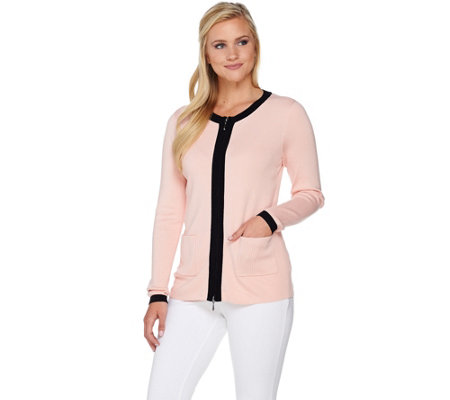 Linea by Louis Dell'Olio Whisper Knit Zip Front Cardigan