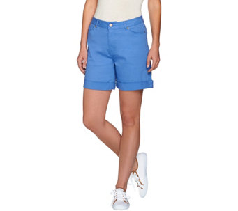 Isaac Mizrahi Live! TRUE DENIM 6'' Inseam Colored Denim Shorts - A274479