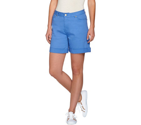 Isaac Mizrahi Live! TRUE DENIM 6'' Inseam Colored Denim Shorts
