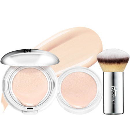IT Cosmetics Supersize CC Veil SPF 50 Foundation Cushion w/Brush