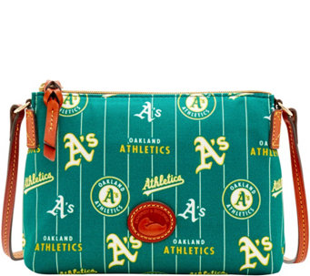 Dooney & Bourke MLB Nylon Athletics Crossbody Pouchette - A281579