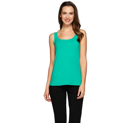 """As Is"" Susan Graver Weekend Essential Stretch Cotton Modal Tank"