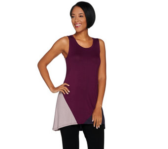 LOGO Layers by Lori Goldstein Color Block Knit Tank - A285379