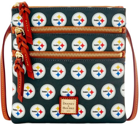 Dooney & Bourke NFL Steelers Triple Zip Crossbody