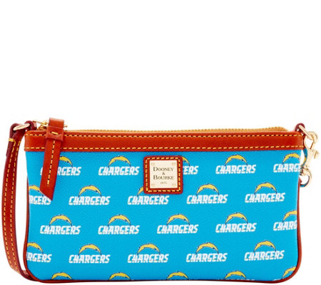 Dooney & Bourke NFL Chargers Large Slim Wristlet