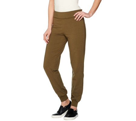 Women with Control Regular Foldover Waist Knit Pants
