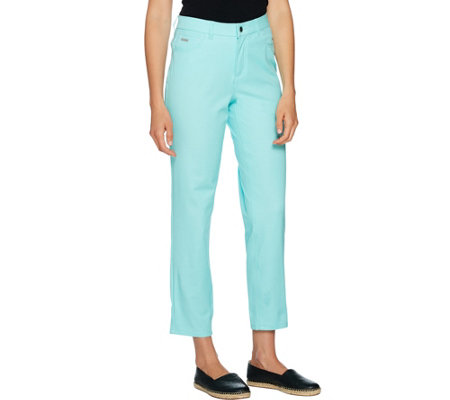H by Halston Regular Studio Stretch 5-Pocket Ankle Pants