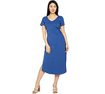 C. Wonder Petite Essentials Slub Knit Midi Dress - A289779