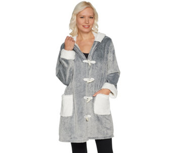 """As Is"" Cuddl Duds Frosted Lounge Jacket - A293179"