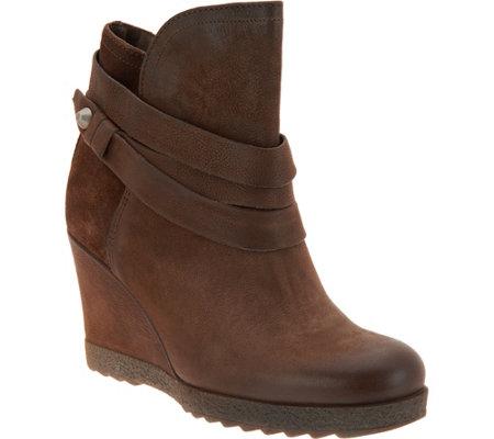 Miz Mooz Leather Wedge Ankle Boots - Narcissa