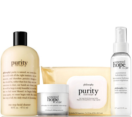 philosophy purity & hope on-the-go 4 pc skincare collection