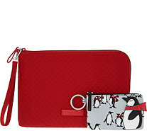 Vera Bradley Iconic Microfiber RFID Wristlet with ID Case - A300779