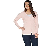Belle by Kim Gravel Ribbed Cardigan - A301579