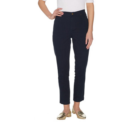 Joan Rivers Regular Joan's Classic Ankle Length Jeans