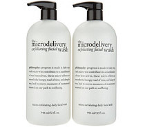 philosophy microdelivery exfoliating facial wash duo - A304579