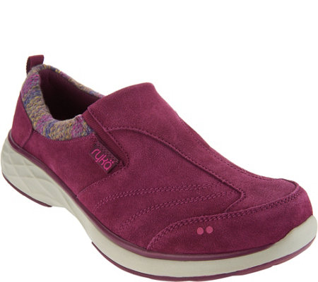 """As Is"" Ryka Suede Slip-On Shoes with CSS Technology - Terrain"