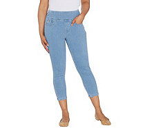 Belle by Kim Gravel Flexibelle Cropped Jegging w/ Back Pockets - A307379