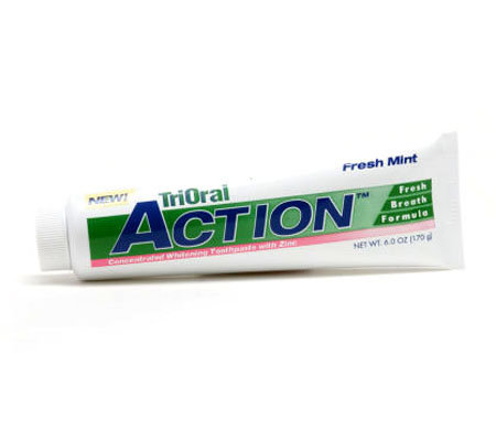 TriOral Action Mint Flavor 6ozConcentrated Zinc Toothpaste