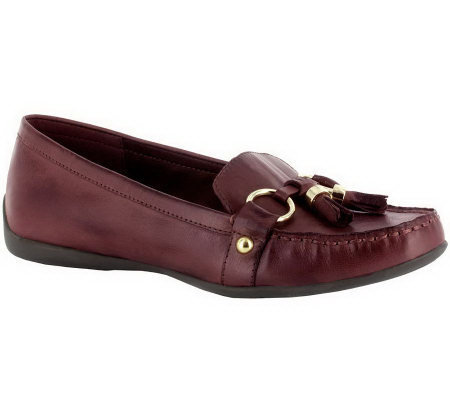 Bella Vita Mallory Leather Slip-on Mocassins