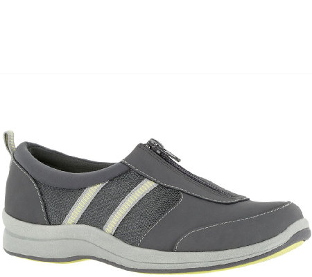 Easy Street Sport Leather and Fabric Sneakers -Delilah