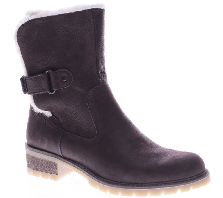 Spring Step Leather Ankle Boots with Lug Outsole - Gloucester