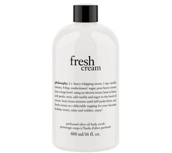philosophy fresh cream olive oil scrub, 16 oz - A340179