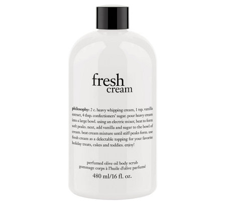 philosophy fresh cream olive oil scrub, 16 oz