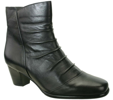 David Tate Leather Ankle Boots - Nora