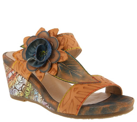 L'Artiste by Spring Step Leather Sandals -  Shayla