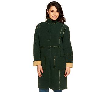 Susan Graver Reversible Fleece Coat - A46579