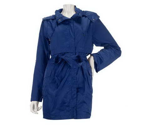 Joan Rivers Water Resistant Hooded Anorak Jacket