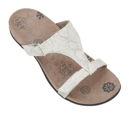 Vionic Orthotic Snake Print Slide Sandals - Molly
