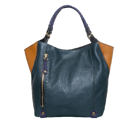 orYANY Leather Aquarius Colorblock Tote