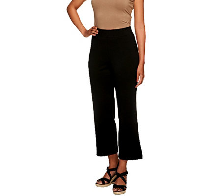 Liz Claiborne New York Petite Ponte Knit Crop Pants