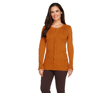 Linea by Louis Dell'Olio Whisper Knit Zip Front Cardigan - A257380