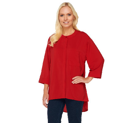 Attitudes by Renee Hi-Low Hem Blouse