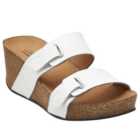 Clarks Slide Wedges w/ Two Adjustable Straps - Auriel Till