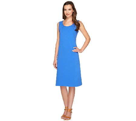 """As Is"" Susan Graver Weekend French Terry Sleeveless Dress"