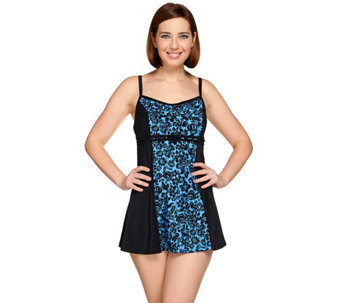 Fit 4 U D's & E's Double Bow Bella Rosa Swim Dress - A274880