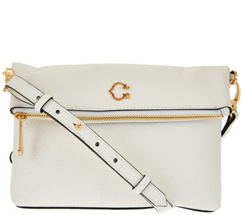 C. Wonder Pebble Leather Foldover Crossbody Handbag - A277980