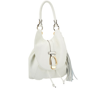 G.I.L.I Leather Convertible Backpack - Ivory/ Winter White - A278680