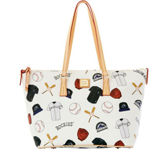 Dooney & Bourke MLB Rockies Zip Top Shopper - A280080