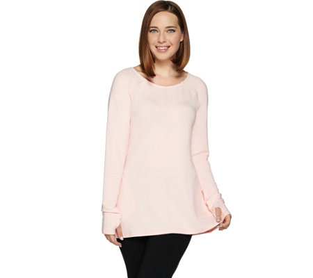 cee bee CHERYL BURKE French Terry Long Sleeve Pullover Top