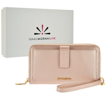 Isaac Mizrahi Live! Signature Leather Wallet with Gift Box - A284380