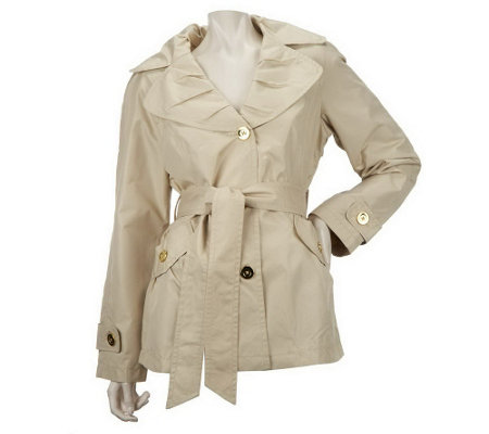 """As Is"" Centigrade Packable Trench Jacket with Self Belt"