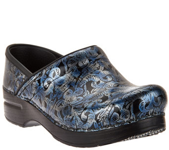 """As Is"" Dansko Professional Leather Clogs in Fashion Colors - A287580"