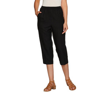 """As Is"" Denim & Co. Pull-on Capri Pants with Pockets - A287880"